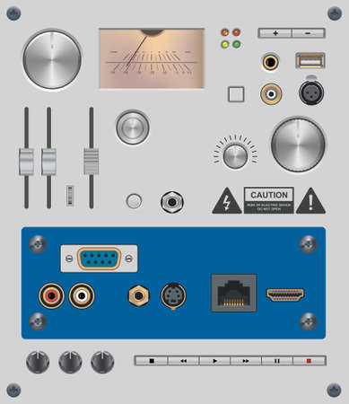 Set of Electronic Components Vector