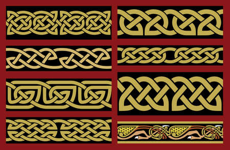 Traditional Saxon Design Vector