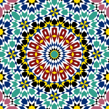 伝統的なモロッコ デザイン  イラスト・ベクター素材