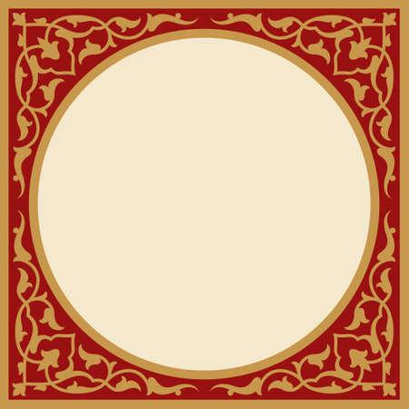the frame: floral frame Illustration