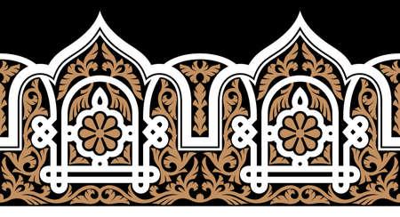 arabesque pattern: Traditional Arabic Design Illustration