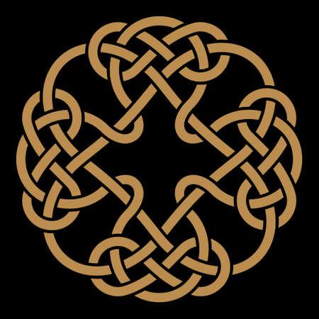 interlaced: Celtic interlaced ornament