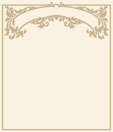 figuration: vintage floral frame