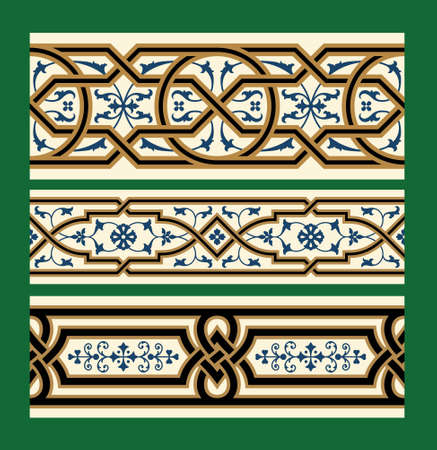 renaissance: Set of Traditional Classic Patterns Illustration