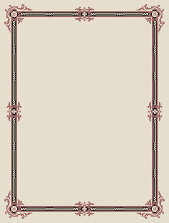 renaissance: Traditional Classic Design Frame Illustration