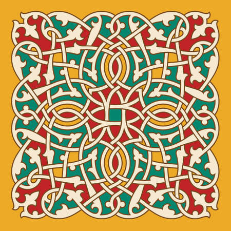 retro patterns: Traditional Classic Design Interlaced Ornament Illustration