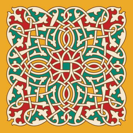 interlaced: Traditional Classic Design Interlaced Ornament Illustration