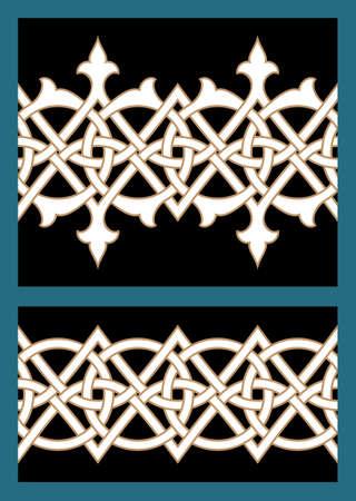 figuration: Set of Two Seamless Borders Illustration