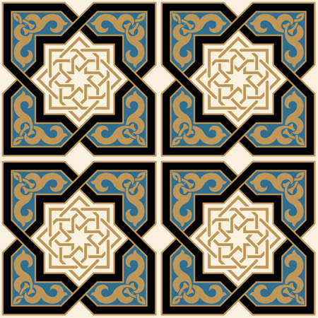 architecture: Arabic Seamless Pattern Illustration