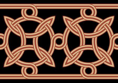 figuration: Ancient Celtic Seamless Border