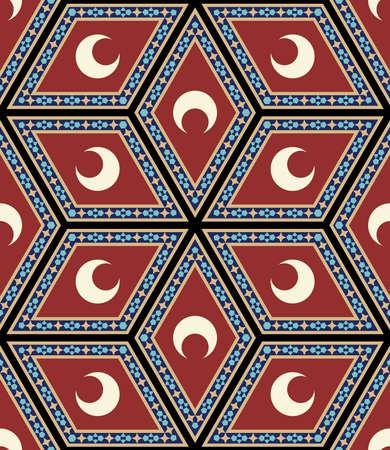 seamless: Traditional Ottoman Seamless Pattern Illustration