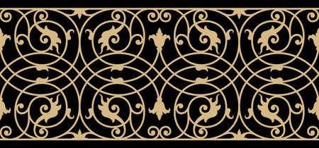 moulding: Traditional Iron Work Seamless Border Three
