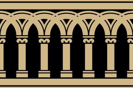figuration: Gothic Seamless Border Illustration