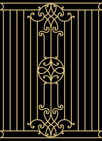 victorian fence: Iron Wrought Seamless Border Nine
