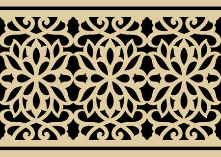 moulding: Arabic Floral seamless Pattern Three
