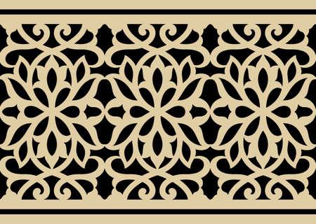 arabesco: Árabe del estampado de flores sin fisuras Tres