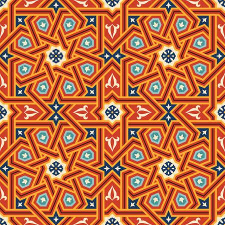 morocco: Traditional Morocco Seamless Pattern Three Illustration