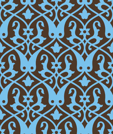 arabesque: Traditional Morocco Seamless Pattern Two Illustration