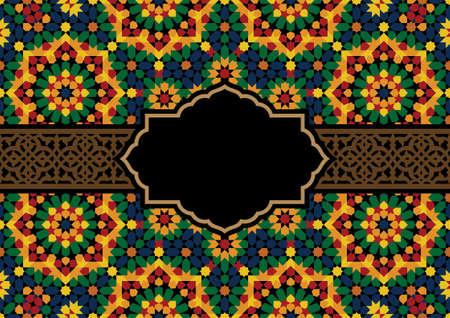 morocco: Design Template with Morocco Ornament Illustration
