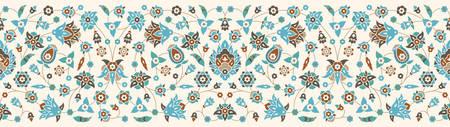 arabesque pattern: Vintage Seamless Floral Border