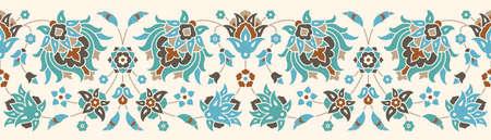 floral border: vintage floral Border Illustration