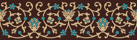 Classic Floral Seamless Border