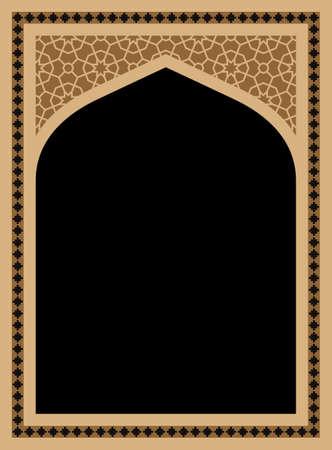 arabesco: Ventana geométrico árabe tradicional
