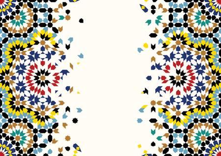 disintegration: Traditional Morocco Disintegration Template Illustration