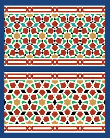 moulding: Set of Two Morocco Seamless Borders