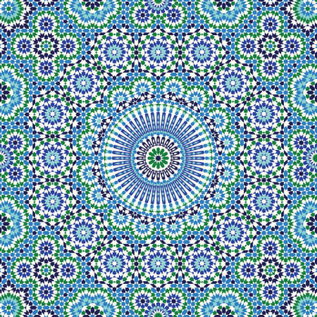 Morocco Seamless Pattern. Traditional Arabic Islamic Background. Mosque decoration element. Illustration
