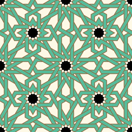 Morocco Seamless Pattern. Traditional Arabic Islamic Background. Mosque decoration element. 向量圖像