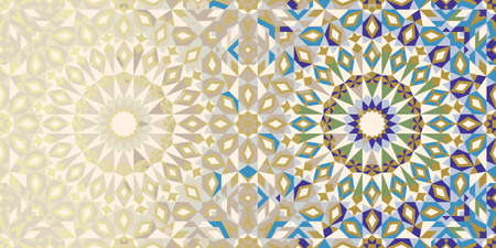 emirates: Page Design Template with Morocco Ornament. Abstract Background. Illustration