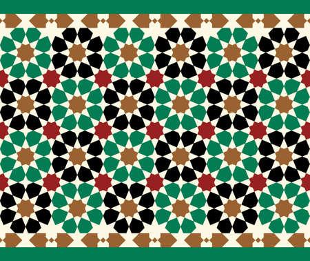 granada: Morocco Seamless Border. Traditional Islamic Design. Mosque decoration element.