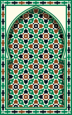 Morocco Arch. Traditional Islamic Background. Mosque decoration element.