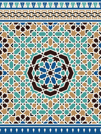 Morocco Seamless Border. Traditional Islamic Design. Mosque decoration element.