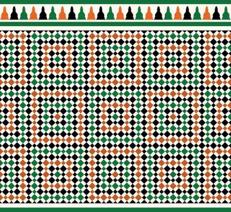 Maroc Border transparente. Conception islamique traditionnelle. Mosquée élément de décoration. Banque d'images - 61606038