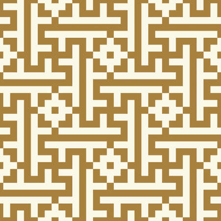 alhambra: Morocco Seamless Pattern. Traditional Arabic Islamic Background. Mosque decoration element. Ancient pixel graphic style. Illustration