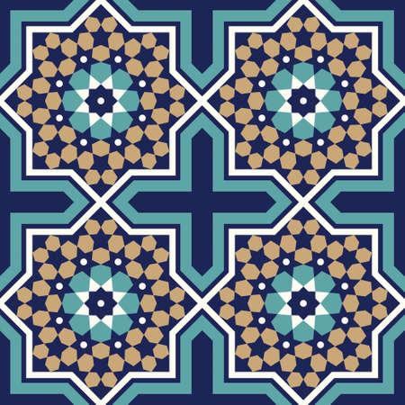 Marokko nahtlose Muster. Traditionelle arabische islamische Hintergrund. Moschee Dekoration Element.