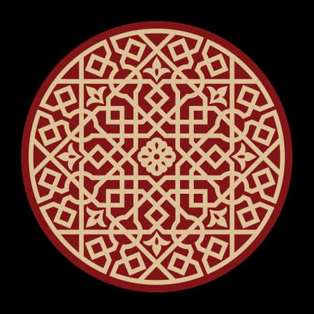 detail: Arabic Floral Ornament. Traditional Islamic Design. Mosque decoration element. Mandala