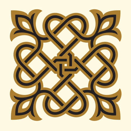 arabesque pattern: Arabic Floral Ornament. Traditional Islamic Design. Mosque decoration element. Illustration