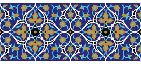 Arabic Floral Seamless Border. Traditional Islamic Design. Mosque decoration element. Stock fotó - 81668843