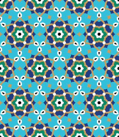 Arabic Floral Seamless Pattern. Traditional Arabic Islamic Background. Mosque decoration element. Vectores