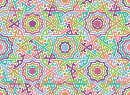 추상 모로코 원활한 패턴입니다. 전통적인 아랍 이슬람 배경입니다. 모스크 장식 요소