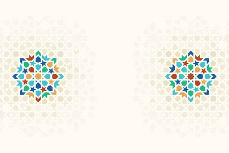 Morocco Disintegration Template. Islamic Mosaic Design. Abstract Background.