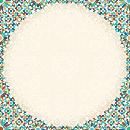 Morocco mosaic pattern.