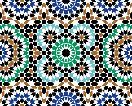 Marokko nahtlose Muster. Traditioneller arabischer islamischer Hintergrund. Moschee Dekoration Element. Standard-Bild - 88778457