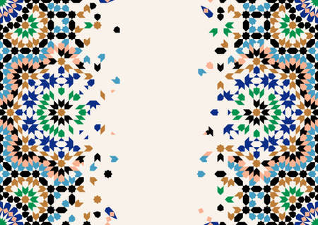 Morocco Disintegration Template. Islamic Mosaic Design. Abstract Background. Stock fotó - 90817389
