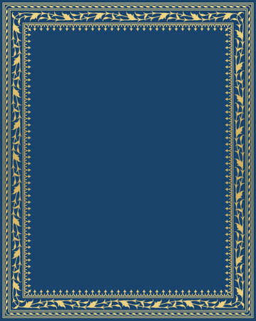 Arabic floral frame traditional Islamic design. Mosque decoration element elegance background with text input area in a center.