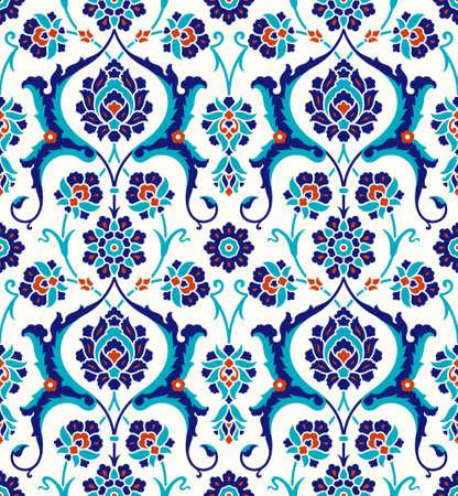 Bloemmotief voor uw ontwerp. Traditioneel Turks – Ottomaans naadloos ornament. Iznik. Vectorachtergrond.