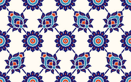 Floral pattern for your design. Traditional Turkish – Ottoman seamless ornament. Iznik. Vector background.